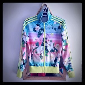 Adidas small floral jacket firebird